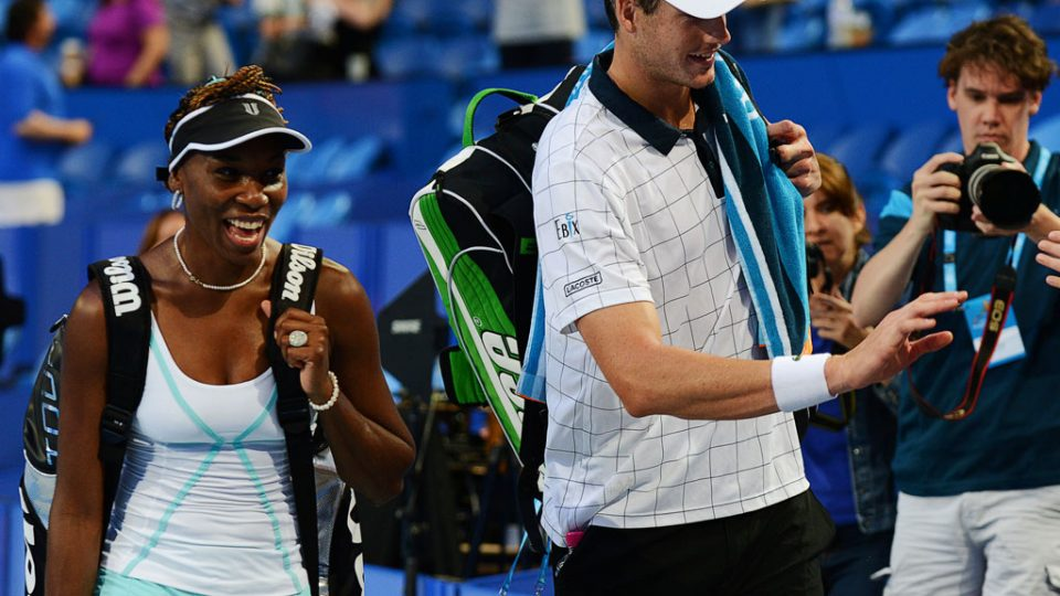 Venus Williams and John Isner, Hyundai Hopman Cup 2013, Perth Arena.