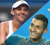 Team Australia: Casey Dellacqua and Nick Kyrgios