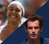 Team Great Britain: Heather Watson and Andy Murray