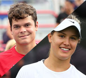 Milos Raonic and Eugenie Bouchard, Canada. GETTY IMAGES