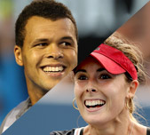 Jo-Wilfried Tsonga and Alize Cornet, France. GETTY IMAGES