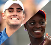 John Isner and Sloane Stephens, United States. GETTY IMAGES