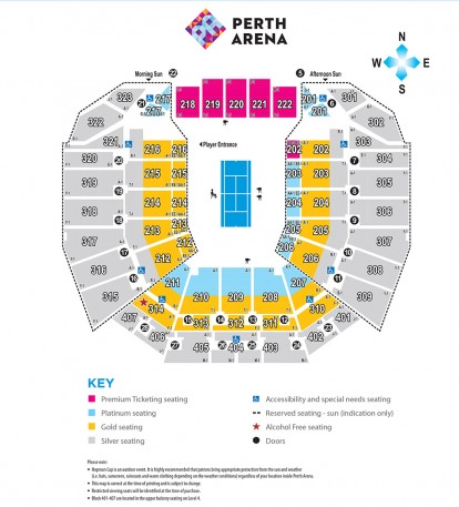 Perth Arena Seating Plan 2015