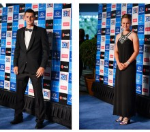 Bernard Tomic and Ashleigh Barty, Hyundai Hopman Cup 2013 New Year's Eve Ball, Grand Ballroom Crown Perth. JODY D'ARCY