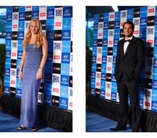 Donna Vekic (hitting partner) and Tommy Haas (Germany), Hyundai Hopman Cup 2013 New Year's Eve Ball, Grand Ballroom Crown Perth. JODY D'ARCY