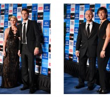 Italy: Andreas Seppi (left) and Francesca Schiavone (right), Hyundai Hopman Cup 2013 New Year's Eve Ball, Grand Ballroom Crown Perth. JODY D'ARCY