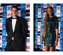 United States: John Isner and Venus Williams, Hyundai Hopman Cup 2013 New Year's Eve Ball, Grand Ballroom Crown Perth. JODY D'ARCY