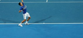 Novak Djokovic, Hyundai Hopman Cup 2013, Perth Arena. GETTY IMAGES