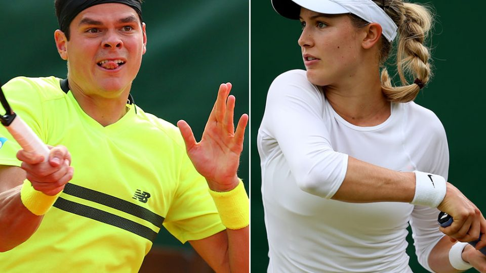 Milos Raonic and Eugenie Bouchard. 2013. GETTY IMAGES