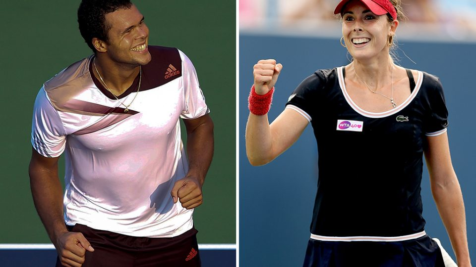 Jo-Wilfried Tsonga (L) and Alize Cornet will represent France at Hyundai Hopman Cup 2014; Getty Images