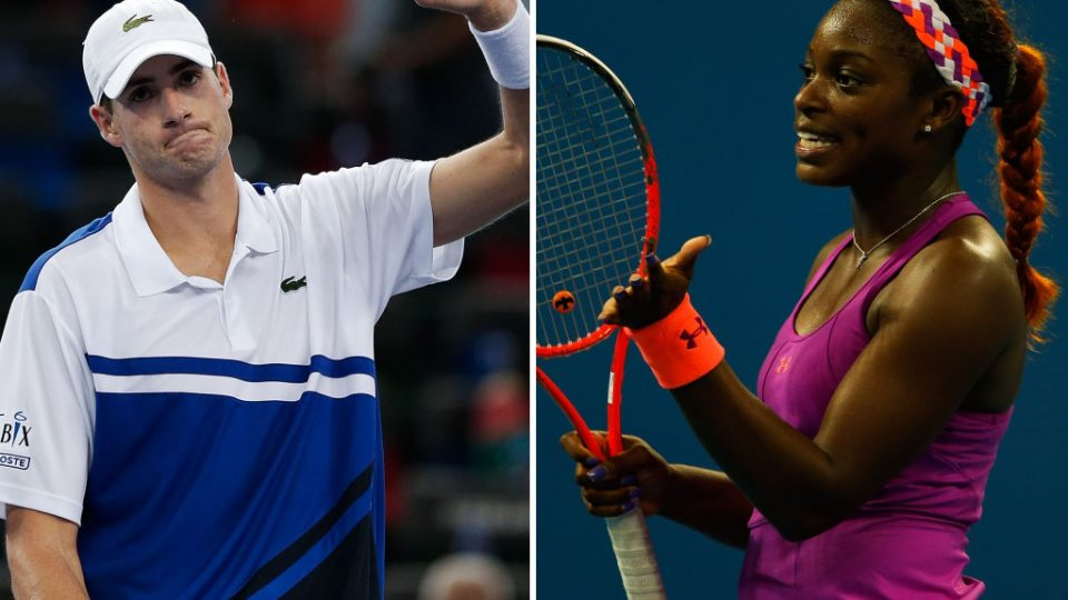 John Isner (L) and Sloane Stephens will represent Team USA at the Hyundai Hopman Cup in 2014; Getty images