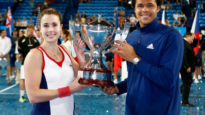 Alize Cornet and Jo-Wilfried Tsonga. France. 2014. GETTY IMAGES