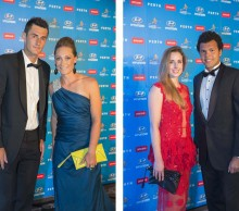 Bernard Tomic and Sam Stosur, Alize Cornet and Jo-Wilfried Tsonga. Australia and France. 2014. ROSS SWANBOROUGH