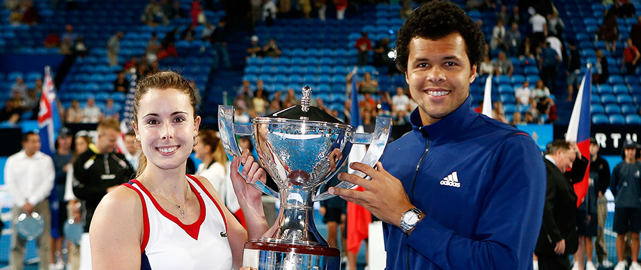 Alize Cornet and Jo-Wilfried Tsonga, Hopman Cup, 2014. GETTY IMAGES
