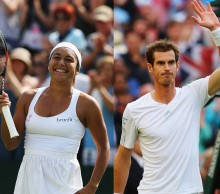 Team Great Britain: Heather Watson and Andy Murray. GETTY IMAGES