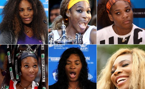The many faces of Serena Williams; Getty Images