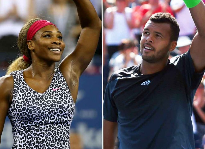 Seren Williams and Jo-Wilfried Tsonga, 2014. GETTY IMAGES