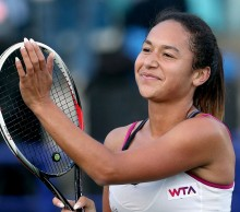 Heather Watson celebrates victory in the first round at Eastbourne, England in 2014; Getty Images