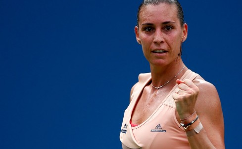 Flavia Pennetta in action at the US Open in 2014; Getty Images