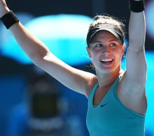 Eugenie Bouchard in action at Australian Open 2015; Getty Images