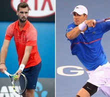 John Isner (R) and Benoit Paire will be in action at Hopman Cup 2015; Getty Images