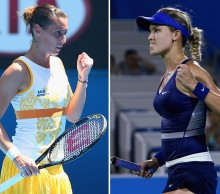 Flavia Pennetta (L) and Eugenie Bouchard; Getty Images