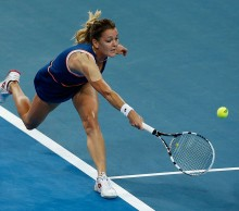 Agnieszka Radwanska in action during the Hopman Cup 2014 final; Getty Images