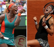 Serena Williams (L) and Lucie Safarova; Getty Images