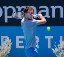 Jerzy Janowicz prepares for the Hopman Cup; Hopman Cup; Ross Swanborough