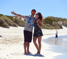 Fabio Fognini and Flavia Pennetta visit Rottnest Island; Chris Hocking