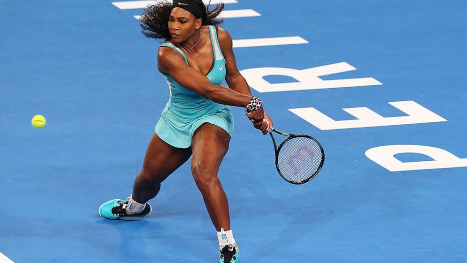 Serena Williams at the Hopman Cup; Getty Images
