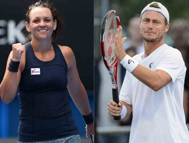 Casey Dellacqua and Lleyton Hewitt; Getty Images