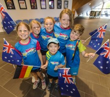 Young fans enjoy the Hopman Cup at Perth Arena.
