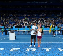 Nick Kyrgios and Daria Gavrilova of Australia Green pose with the Hopman Cup; Getty Images