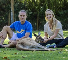 Alexandr Dolgopolov and Elina Svitolina at Caversham Wildlife Park