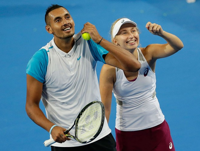Nick Kyrgios and Daria Gavrilova; Getty Images