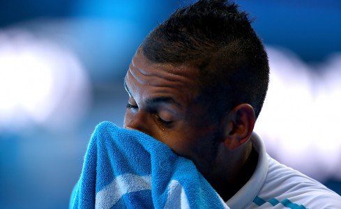 Nick Kyrgios hard at work