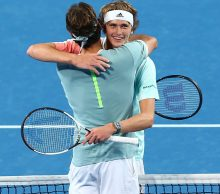 Roger Federer and Alexander Zverev at Mastercard Hopman Cup; Getty Images