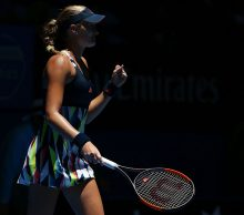 Kristina Mladenovic of France at Mastercard Hopman Cup; Getty Images