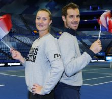 Kristina Mladenovic and Richard Gasquet at Mastercard Hopman Cup; Getty Images