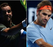 Richard Gasquet and Roger Federer; Getty Images