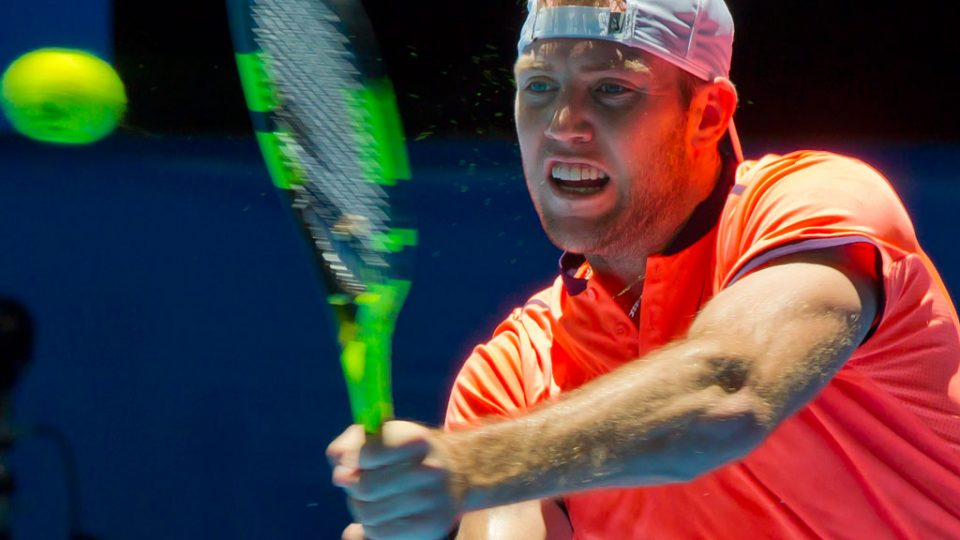 Jack Sock at Mastercard Hopman Cup; Getty Images