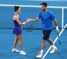 Lara Arruabarrena and Feliciano of Spain at Mastercard Hopman Cup; Getty Images