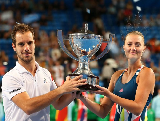 Richard Gasquet and Kristina Mladenovic win Mastercard Hopman Cup 2017; Getty Image