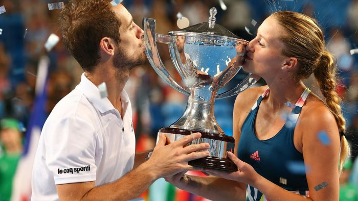 Richard Gasquet and Kristina Mladenovic combined to claim a second Hopman Cup title for France; Getty Images