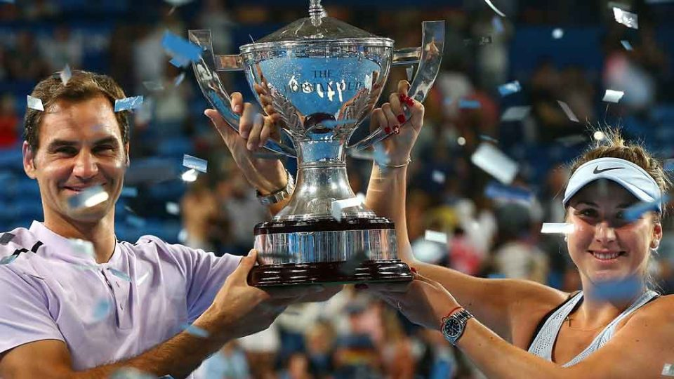 Federer and Bencic claim a third Hopman Cup title for Switzerland; Getty Images