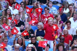 Spirited support for the Swiss pair; Getty Images