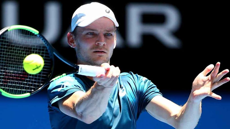 David Goffin has prevailed in all three singles matches at Perth Arena: Getty Images