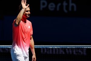 The retiring David Ferrer played his last matches in Australia.