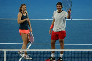 Alize Cornet and Lucas Pouille thrived in mixed doubles.